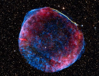 Illustration for article titled Brightest Supernova In History Has Turned To Velvety Goodness