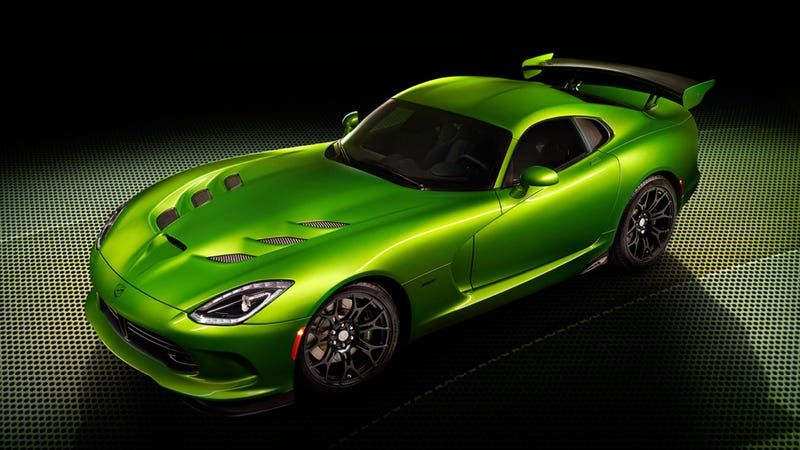 Illustration for article titled The SRT Viper Now Comes In This Awesome Shade Of Green