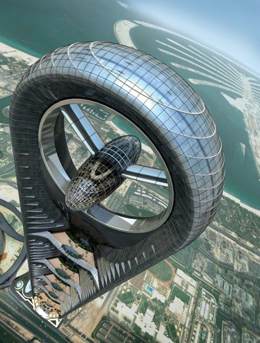 Illustration for article titled Dubai's Newest Insane Skyscraper to House a Restaurant in a Glass Pod at 2,150 Feet
