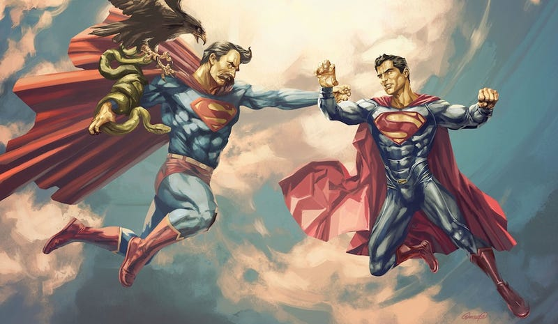 Illustration for article titled Who would win in a fight between Superman and Nietzsche's Übermensch?