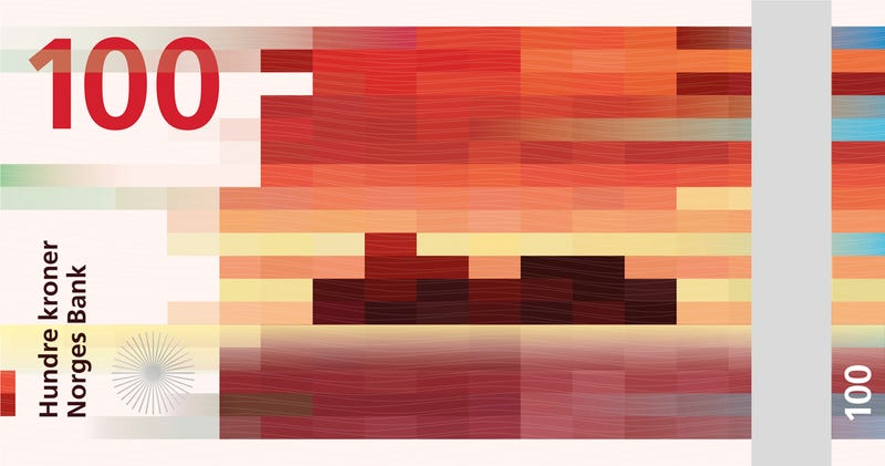 Illustration for article titled Norway's New Currency Design Is Perfectly Pixelated High-Concept Art