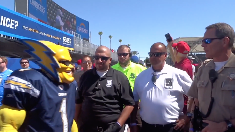 Chargers Superfan Boltman On Security Asking Him To Remove