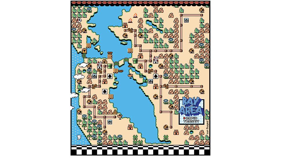 The San Francisco Bay Area Makes For A Fine Mario WorldMap