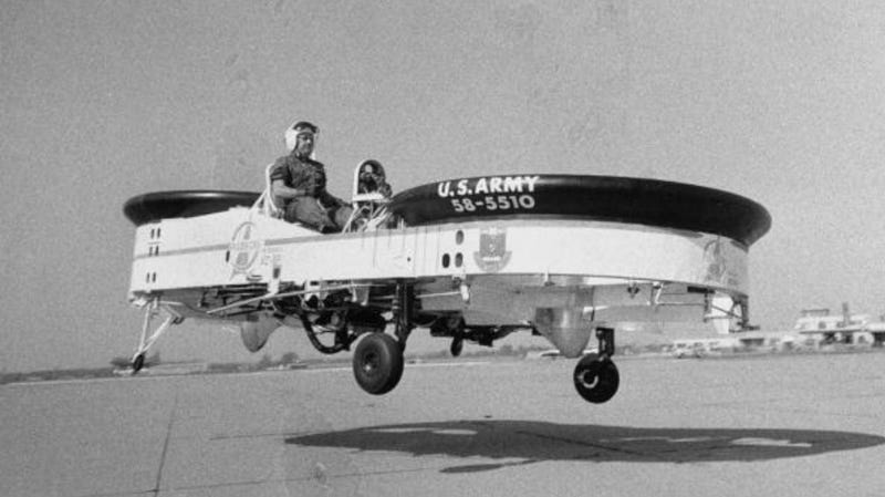 Illustration for article titled Yes, The U.S. Army Actually Developed a Flying Jeep with Guns