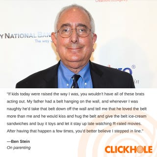 Illustration for article titled Ben Stein Said WHAT?!