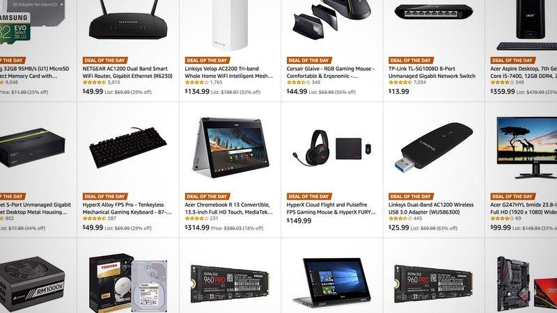 Gold Box de accesorios y componentes para PC | AmazonGráfico: Shep McAllister