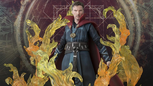 this great doctor strange figure is on fire not literally