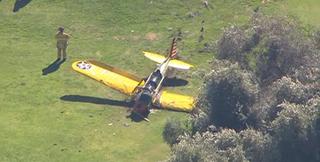 Illustration for article titled Harrison Ford összetörte a repülőgépét és saját magát is, de él