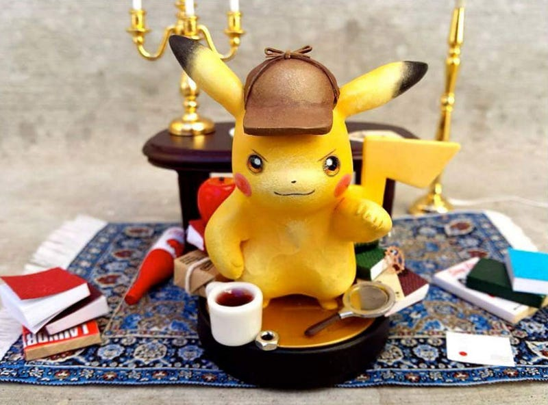 Illustration for article titled Look At This Custom Detective Pikachu Amiibo