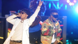 Rae Sremmurd performs at the BET Hip Hop Awards, which were held at the Atlanta Civic Center Sept. 20, 2014.Brad Bracket/BET/Getty Images