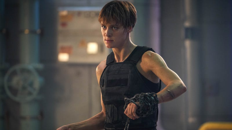 Mackenzie Davis is the Kyle Reese protector character in Terminator: Dark Fate.