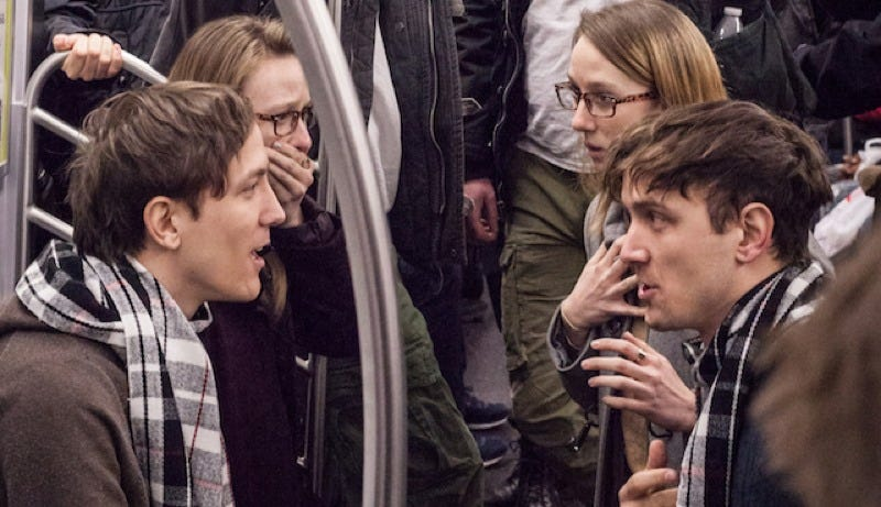 Four Sets of Identical Twins Staged a Time Travel Prank on an NYC Subway