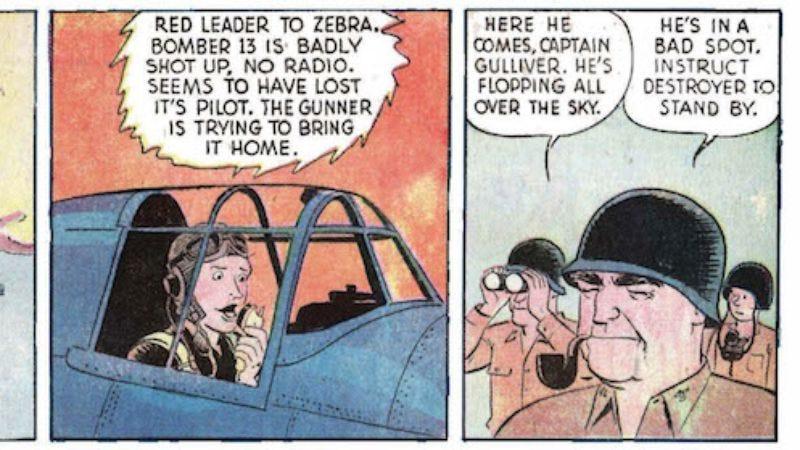 Photo: Buz Sawyer comic strip (via The New Republic)