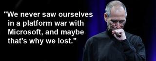 Illustration for article titled Steve Jobs Explains Why Apple Lost the Platform War