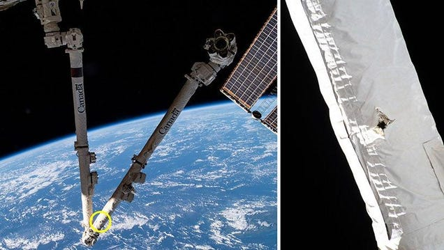 Space Junk Has Blasted a Hole in a Key Space Station Tool
