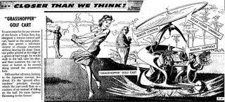 "Illustration for article titled ""Grasshopper"" Golf Cart (1961)"