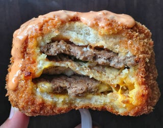 Illustration for article titled This deep fried Big Mac is the pinnacle of fast food ingenuity