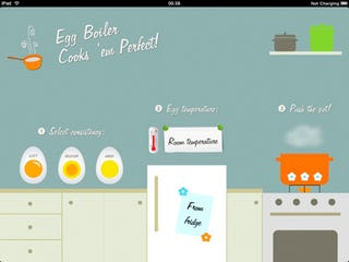 Illustration for article titled Egg Boiler iPad App Times Your Eggs To Perfection