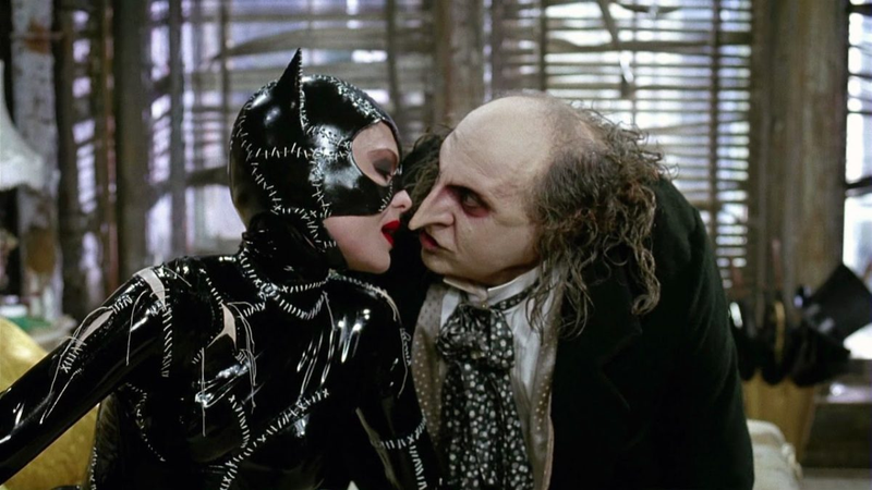 Michelle Pfeiffer and Danny DeVito in Batman Returns.
