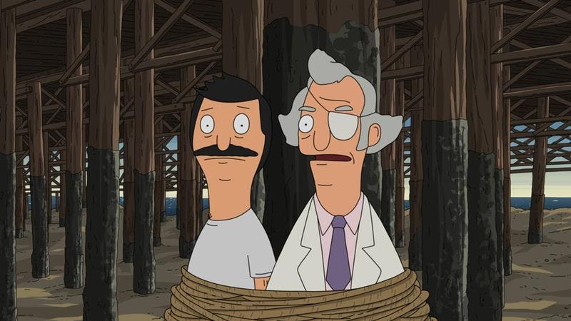 """Illustration for article titled Bob's Burgers: """"World Wharf II: The Wharfening (Or How Bob Saves/Destroys The Town—Part II)"""""""
