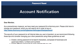 Illustration for article titled Hey, Guess What: Your eHarmony Passwords Were Leaked, Too