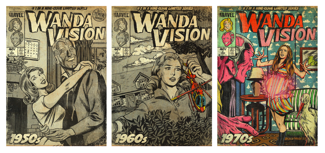 WandaVision Transforms Back Into Its Comic Book Roots in This Bewitching Art