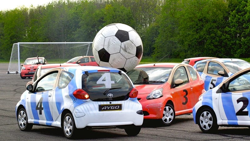 """Illustration for article titled Top Gear and Forza 4: From """"Car Soccer"""" to """"Car Bowling"""""""