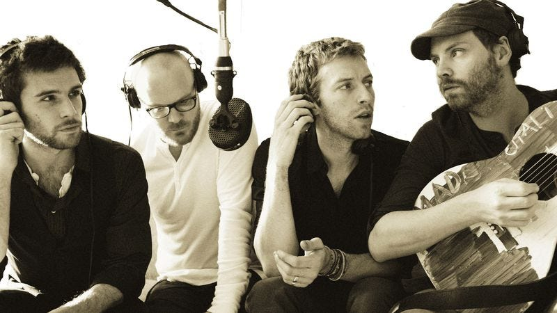 Guy Berryman, Will Champion, Chris Martin, and Jonny Buckland
