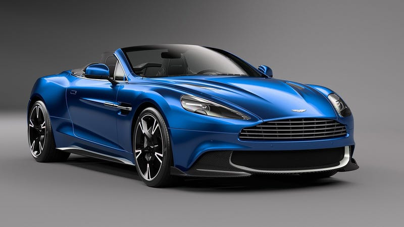 Illustration for article titled I Don't Know How The Aston Martin Vanquish S Volante Is Still Pulling It Off, But It Is