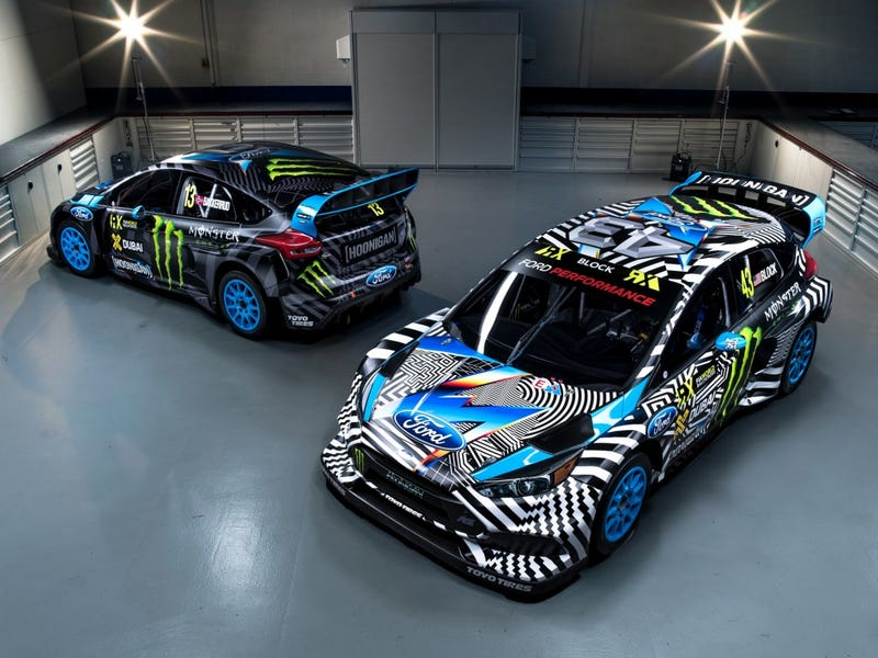 Illustration for article titled Ken Block's Ford Focus RS RX Looks Like Some Dope Ass Zubaz Pants