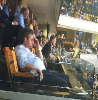 Illustration for article titled Here's A Sad Picture Of James Dolan Watching Last Night's Game