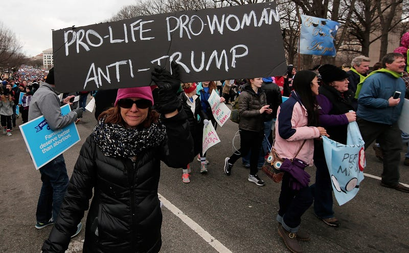 Even Women at the March For Life Don't Like Donald Trump