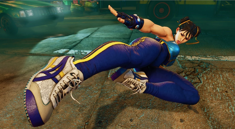 Illustration for article titled Behold, Chun-Li Themed Sneakers