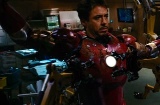Illustration for article titled Look What's On Tony Stark's Workbench In Iron Man