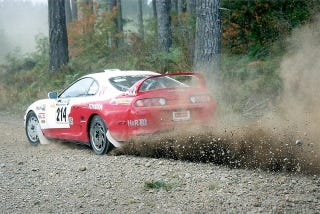 Illustration for article titled Rally Supra???