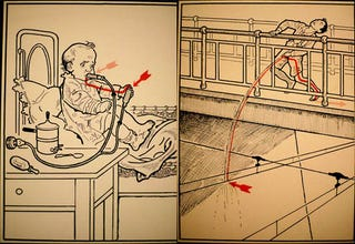 Illustration for article titled Retro Illustrations Show 30 Ways To Die From Electrocution