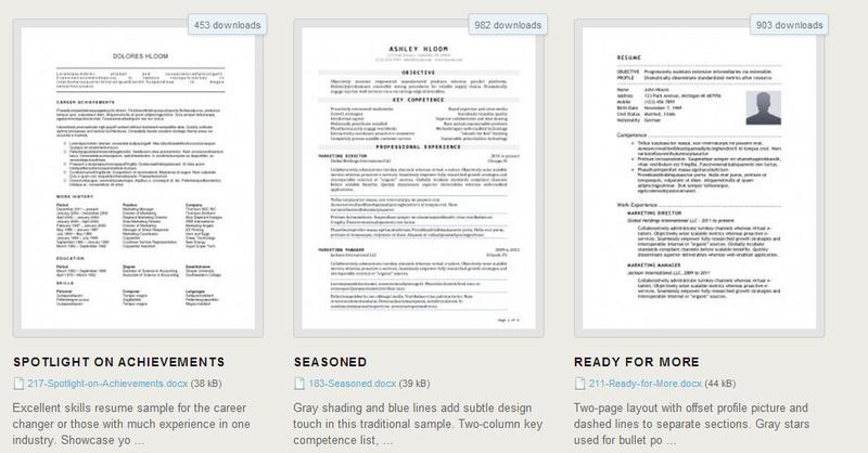 Escribiendo tu currículum? Descarga gratis 275 plantillas en Word