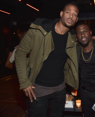 Marlon Wayans and Kevin Hart at the after-party for the premiere of Hart's The Wedding Ringer Jan. 6, 2015, in Hollywood, Calif. Alberto E. Rodriguez/Getty Images