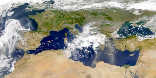 The Mediterranean Sea from space. Photo: NASA