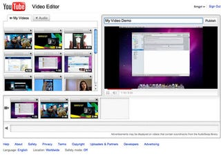 YouTube Gets Simple, Cloud-Based Video Editing