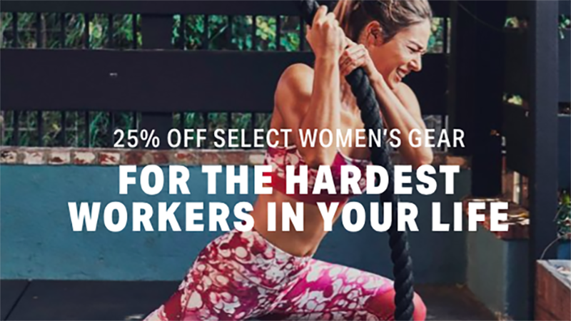 25% Off Select Women's Gear | Under Armour