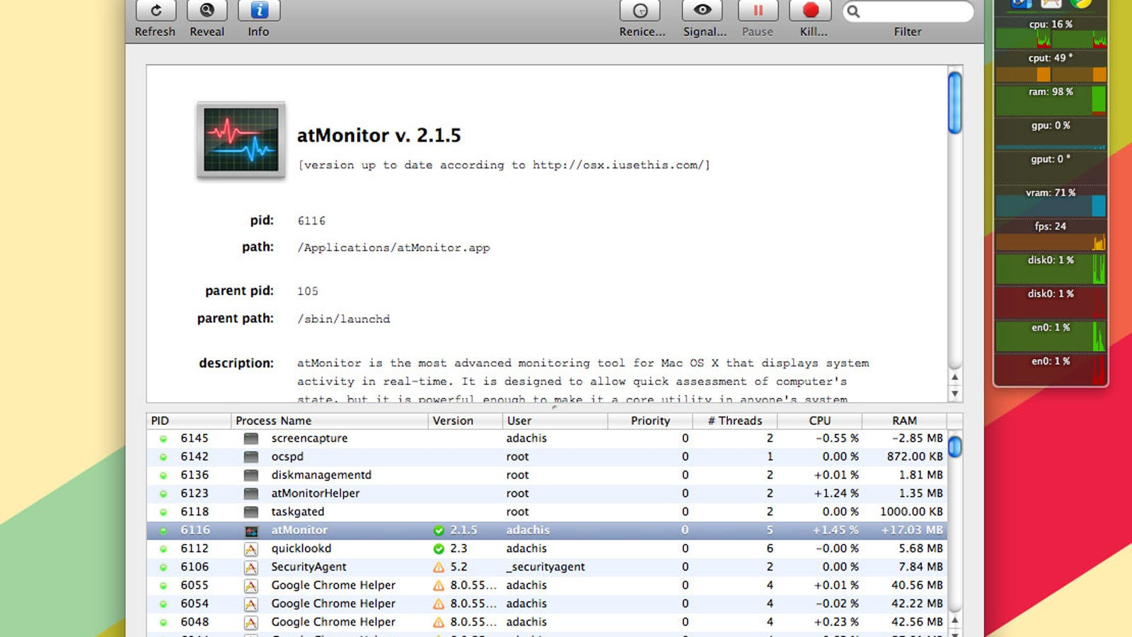 atMonitor is a Comprehensive Free System Monitoring Tool