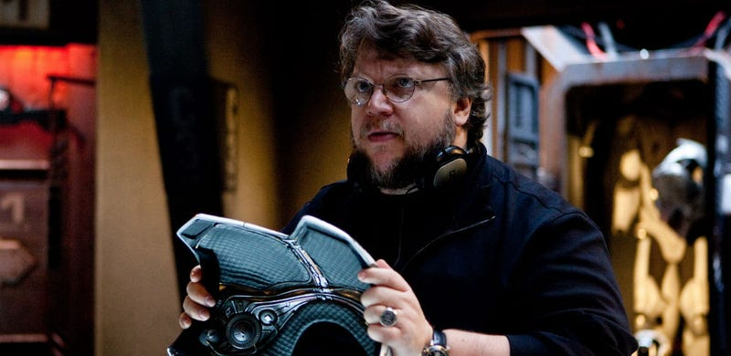 Guillermo del Toro on the set of Pacific Rim. He's producing Carnival Row, a show by the film's writer Travis Beacham. Image: Warner Bros.