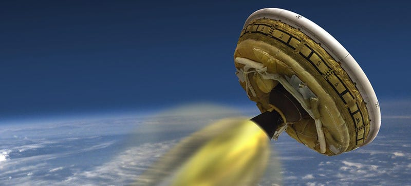 Illustration for article titled Watch NASA's Flying Saucer Test Flight Live, Right Here, Right Now