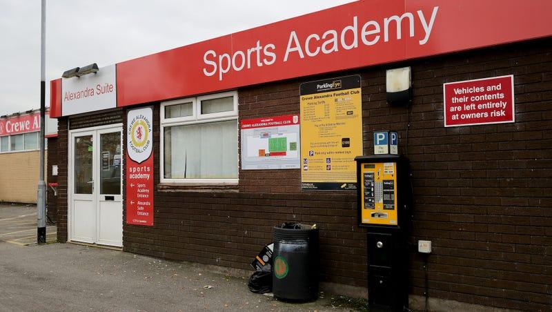 The Crewe Alexandra Sports Academy entrance. Photo credit: Christopher Furlong/Getty