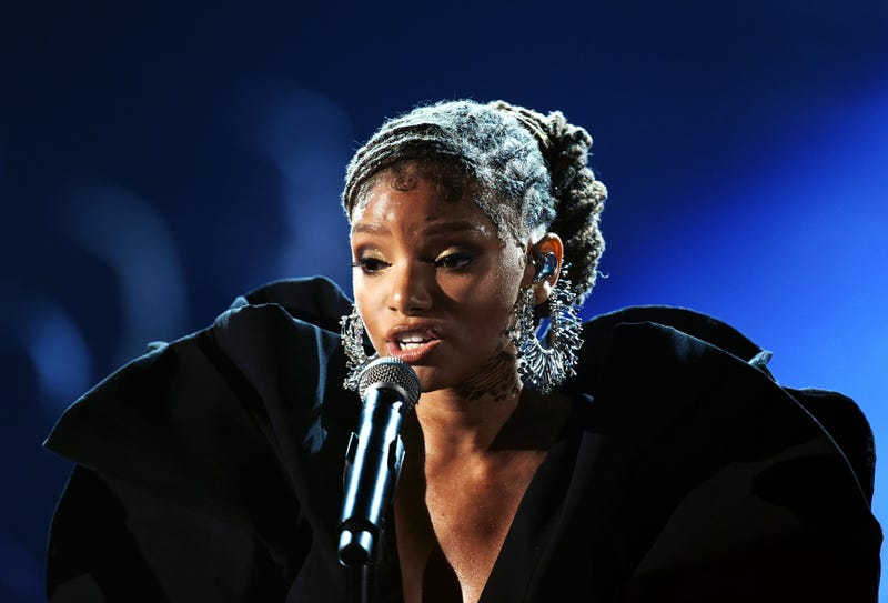 Halle Bailey of Chloe x Halle performs onstage during the 61st Annual GRAMMY Awards at Staples Center on February 10, 2019 in Los Angeles, California.