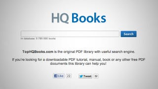 Illustration for article titled TopHQBooks Is a Search Engine for Free PDF Ebooks