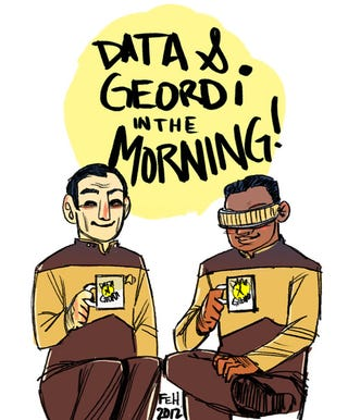 Illustration for article titled Proof that Data and Geordi are the original Troy and Abed
