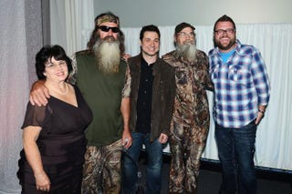 Kay Robertson, Phil Robertson, Adam Ferrara, Si Robertson, and Rutledge Wood attend the A&E Networks 2012 Upfront at Lincoln Center on May 9, 2012 in New York City.Andrew H. Walker/Getty Images for A&E Networks