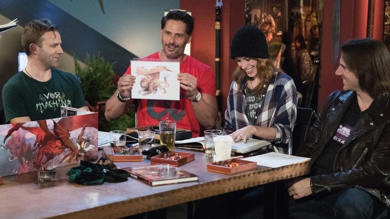 Liam O'Brien, Joe Manganiello, Marisha Ray, and Matt Mercer (Photo: Mat Hayward/Getty Images for Dungeons & Dragons)